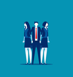 office colleagues concept business teamwork vector image