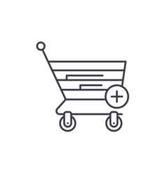 online shopping line icon concept online shopping vector image