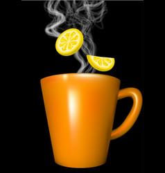 Orange mug vector