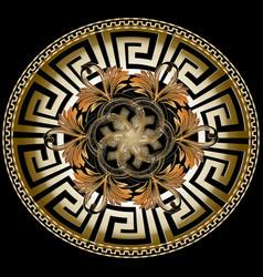 ornate golden 3d greek mandala pattern with vector image