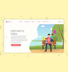 Parenting advice landing page template vector
