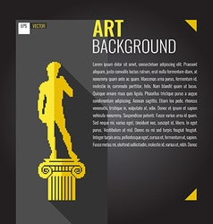 Pixel graphics background for text Statue Of David vector