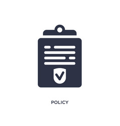 Policy icon on white background simple element vector
