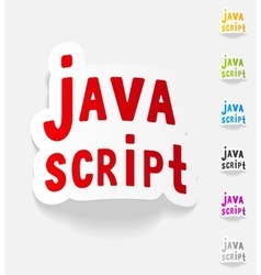 Realistic design element java script vector