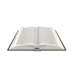 realistic open book 3d paper object education vector image