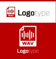 Red wav file document download wav button icon vector