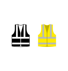 Safety jacket security icon life vest vector