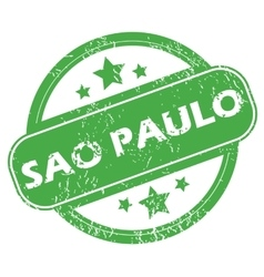 Sao paulo green stamp vector