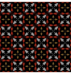 seamless checked pattern with crosses vector image