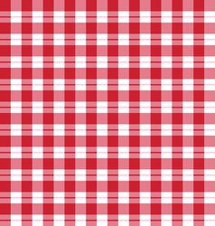 seamless pattern red tartan vector image