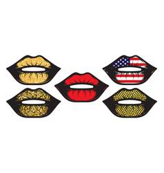 set female lips isolated on white background vector image