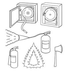 set of fire extinguisher vector image