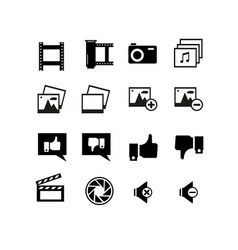 Simple set approve related line icons vector