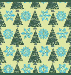 snowflake winter design season december snow trees vector image