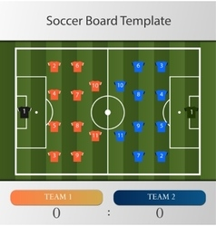 Soccer board template vector