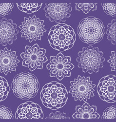 Ultraviolet seamless background with monoline vector