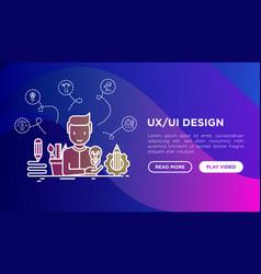 ux ui design concept creator generates idea vector image