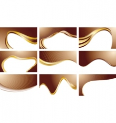 vector set chocolate backgrounds vector image