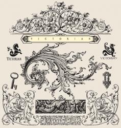 victorian vector image