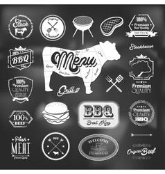 Beef specialty restaurant elements design vector image vector image