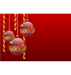 christmas balls card vector image vector image