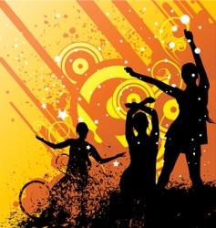 dancing women vector image vector image