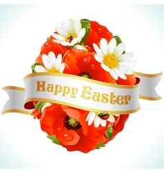 easter egg from flowers vector image