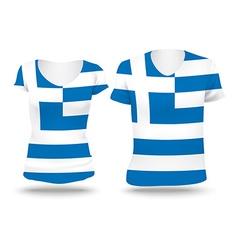 Flag shirt design of Greece vector image vector image