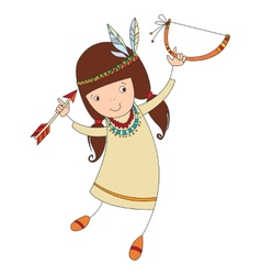 girl in costume of northern Indian vector image vector image