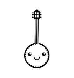 kawaii banjo jazz instrument musical festival vector image vector image