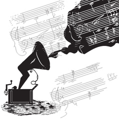 old phonograph vector image vector image