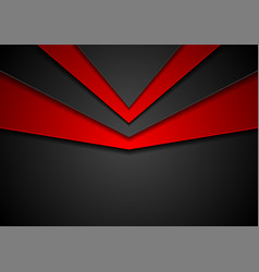 abstract hi-tech red black background vector image vector image