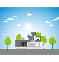 Apartment landscape background vector image vector image