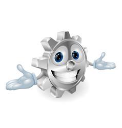 cog cartoon character vector image