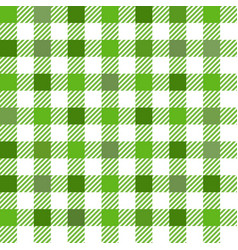green gingham mix seamless pattern vector image vector image