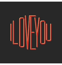 I love you note lettering print t-shirt vector image vector image