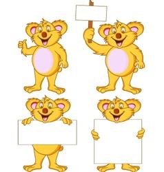 koala collection vector image vector image