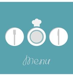 round menu vector image vector image
