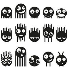 Set of cute monsters vector image vector image