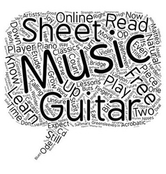Can You Read Your Free Guitar Sheet Music text vector image vector image