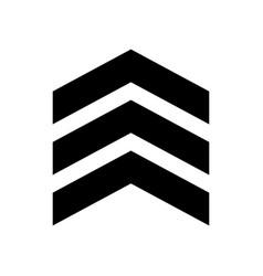 chevron icon on white background flat style vector image