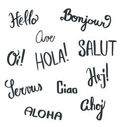 Handwritten greetings vector image