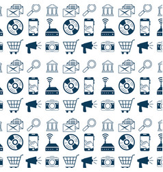 internet and technology background design vector image