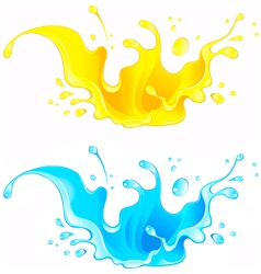 Splash Juice Drink and water splash vector image vector image