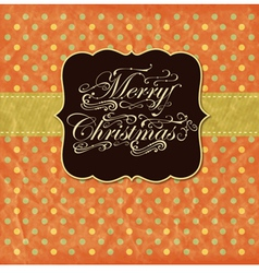 vintage christmas greeting card vector image