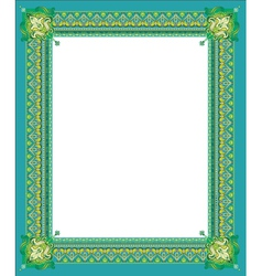Border in green coloring vector image vector image