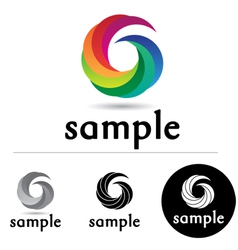 Color Swirl vector image
