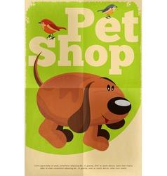 pet shop poster dog vector image vector image