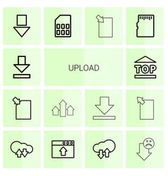 14 upload icons vector image