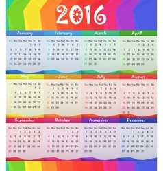 2016 Child style calendar vector image